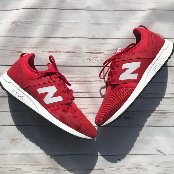 Men's NEW New Balance 247 Red Athletic Sneakers
